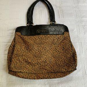 Jessica Simpson beautiful animal print bag GUC